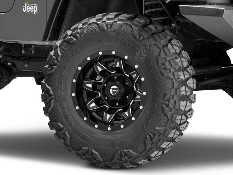 Fuel Wheels Lethal Matte Black Milled Wheel; 15x10 (97-06 Jeep Wrangler TJ)
