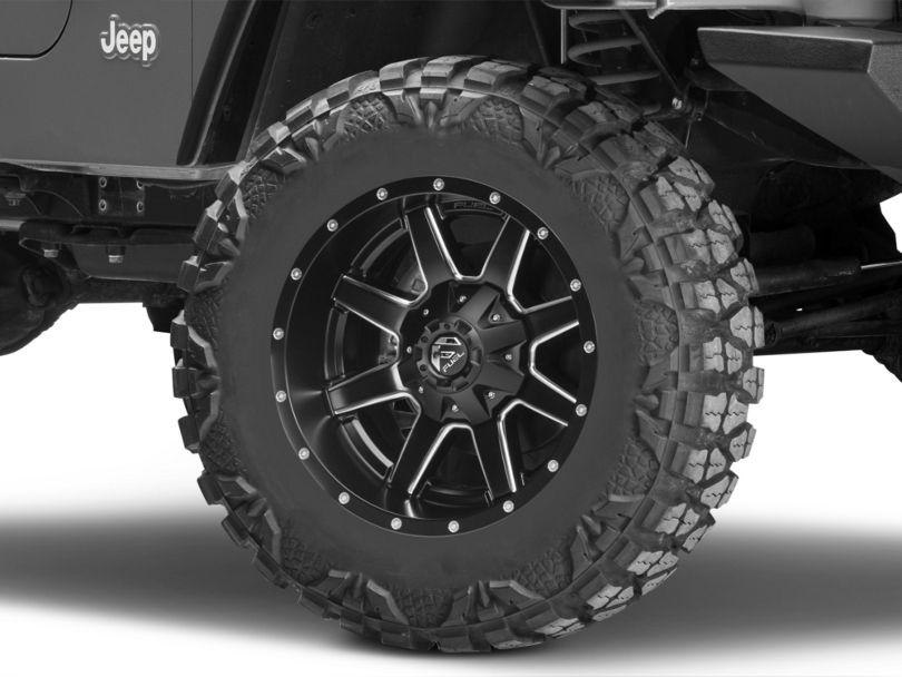Fuel Wheels Maverick Black Milled Wheel - 18x9 (97-06 Jeep Wrangler TJ)