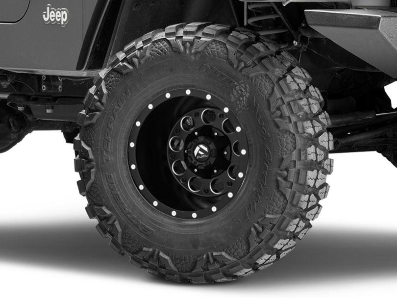 Fuel Wheels Revolver Black Milled Wheel - 15x10 (97-06 Jeep Wrangler TJ)