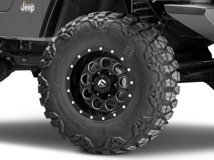 Fuel Wheels Revolver Black Milled Wheel - 15x8 (97-06 Jeep Wrangler TJ)