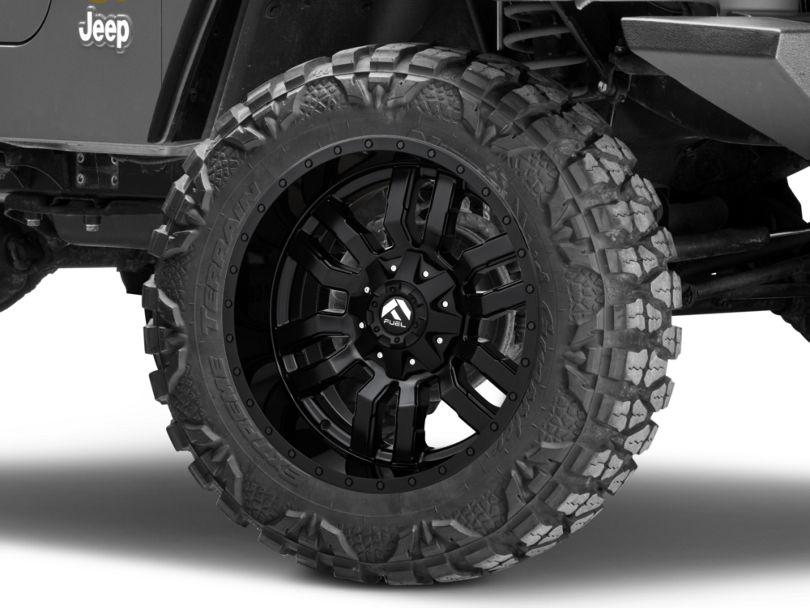 Fuel Wheels Sledge Matte Black Wheel - 20x10 (97-06 Jeep Wrangler TJ)