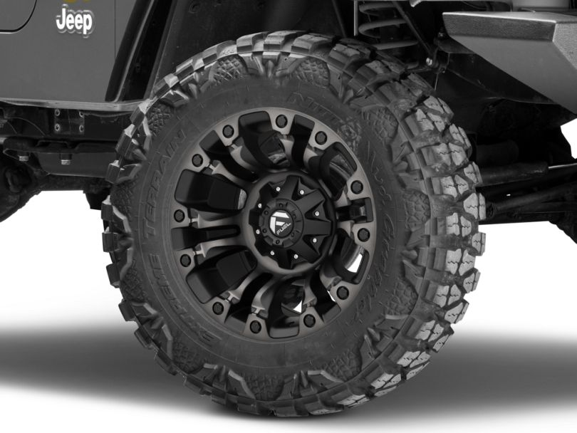 Fuel Wheels Vapor Matte Black Machined Wheel - 18x9 (97-06 Jeep Wrangler TJ)