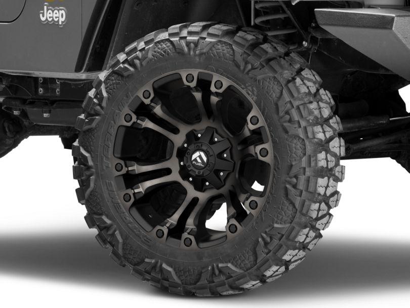 Fuel Wheels Vapor Matte Black Machined Wheel - 20x10 (97-06 Jeep Wrangler TJ)