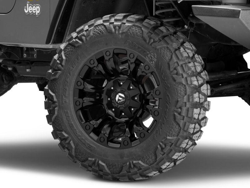 Fuel Wheels Vapor Matte Black Wheel; 18x9 (97-06 Jeep Wrangler TJ)