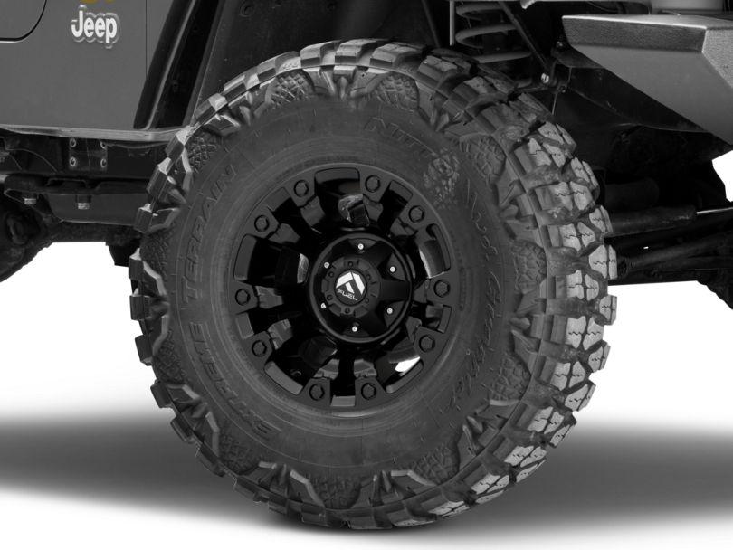 Fuel Wheels Vapor Matte Black Wheel - 15x8 (97-06 Jeep Wrangler TJ)