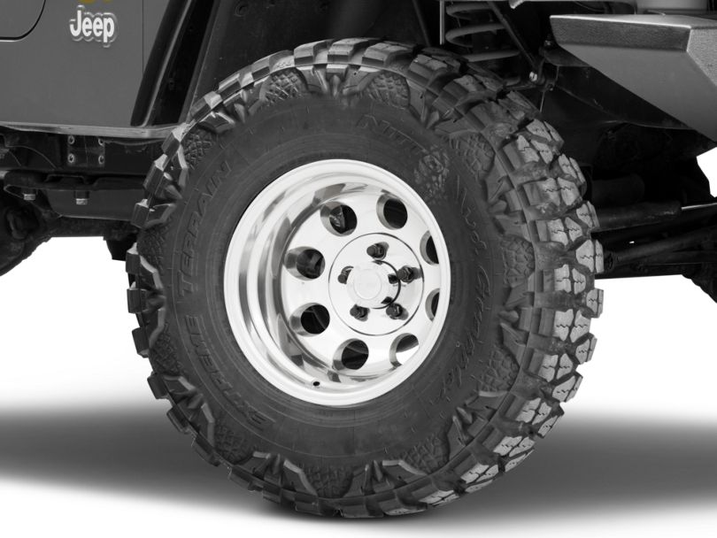 Pro Comp Wheels Series 1069 Polished Wheel; 15x10 (97-06 Jeep Wrangler TJ)