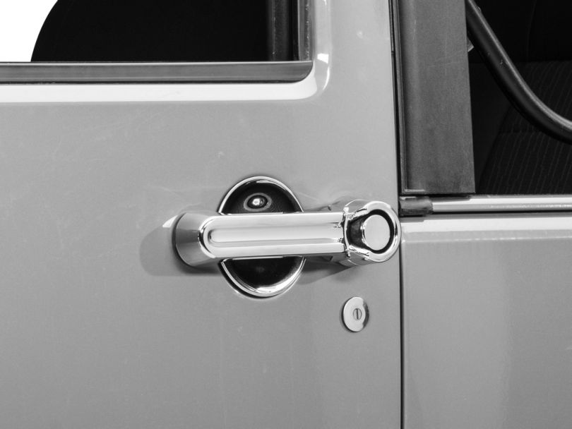 Rugged Ridge 6-Piece Door Handle Cover & Recess Guard Kit - Chrome (07-18 Jeep Wrangler JK 2 Door)