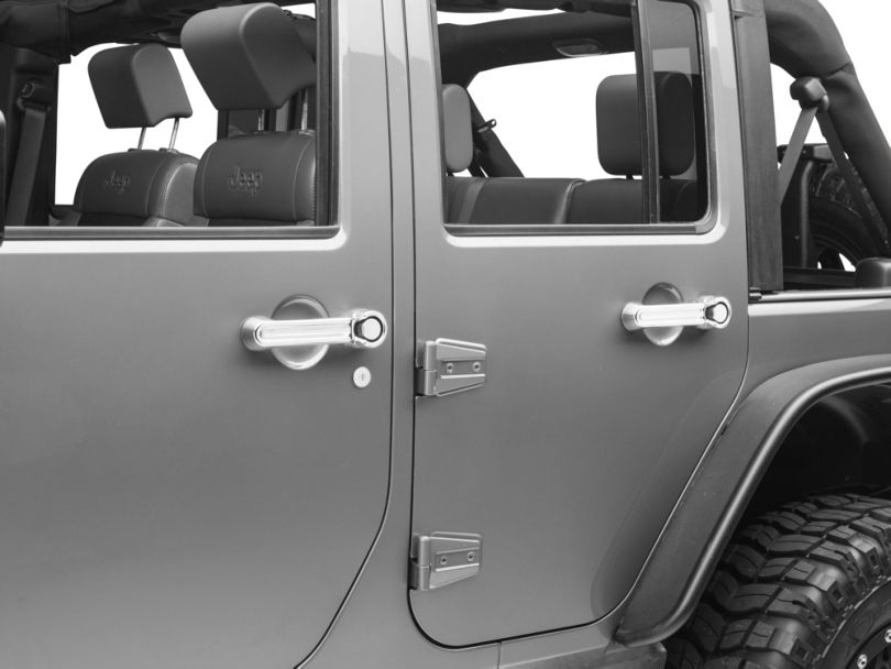 Rugged Ridge Door Handle Covers; Chrome (07-18 Jeep Wrangler JK 4 Door)