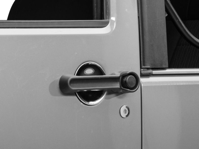 Rugged Ridge 3-Piece Door Handle Recess Guard Kit - Chrome (07-18 Jeep Wrangler JK 2 Door)