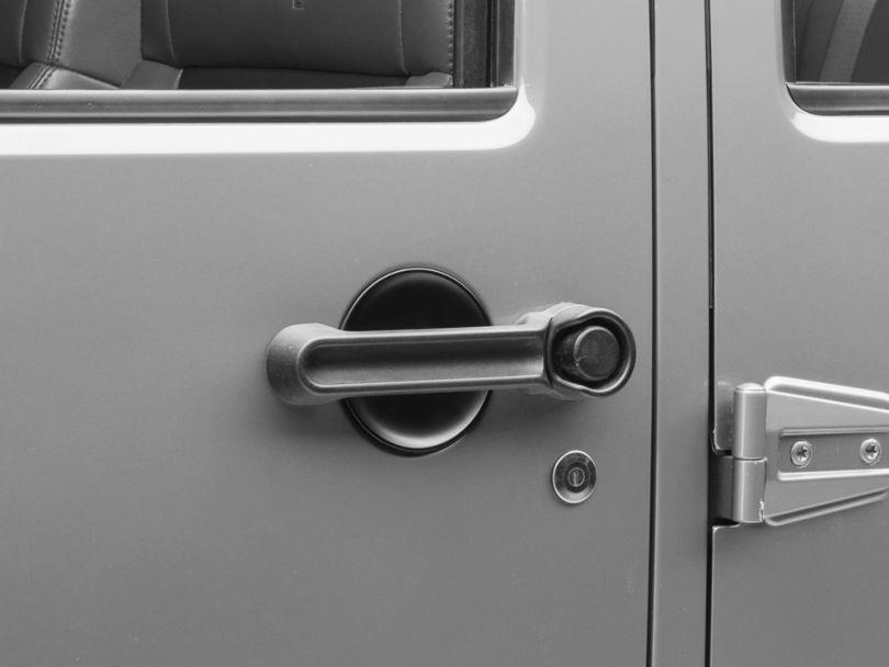 Rugged Ridge Door Handle Recess Guards; Black (07-18 Jeep Wrangler JK 4 Door)