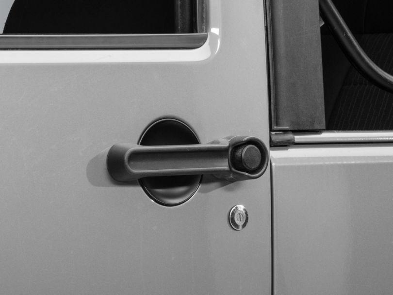 Rugged Ridge 3-Piece Door Handle Recess Guard Kit - Black (07-18 Jeep Wrangler JK 2 Door)