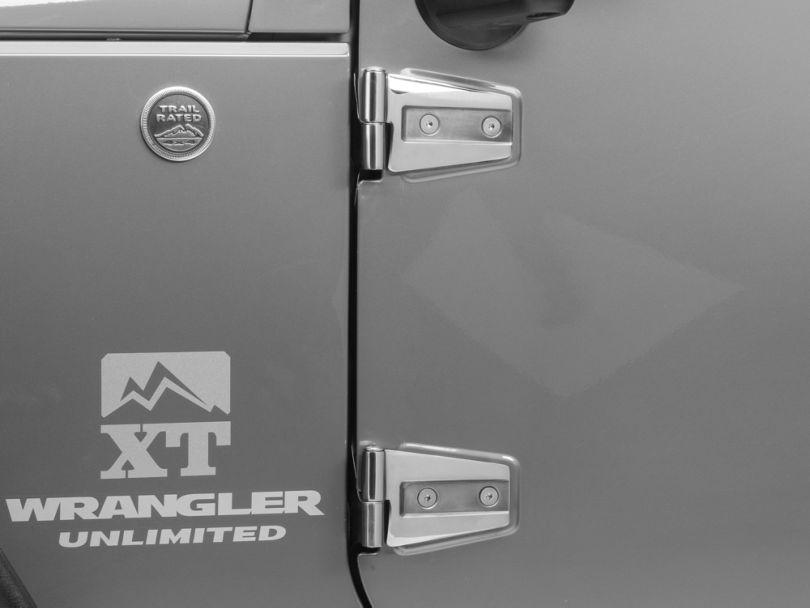 Rugged Ridge Stainless Steel Door Hinge Kit (07-18 Jeep Wrangler JK 4 Door)