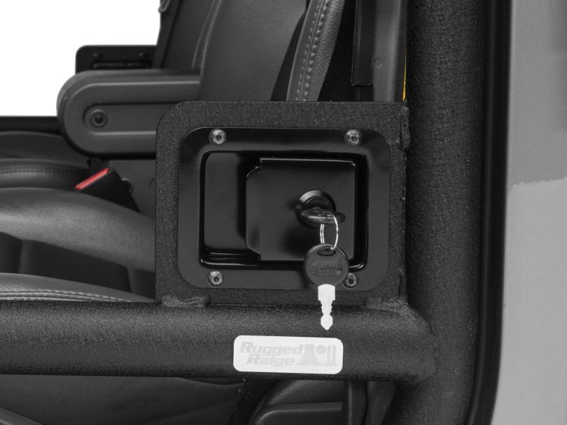 Rugged Ridge Door Latch Set - Pair for Half and Tube Doors (07-18 Jeep Wrangler JK)