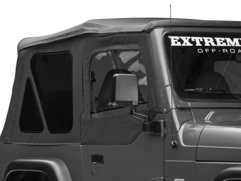 Rugged Ridge Replacement Door Skins - Black Diamond (97-06 Jeep Wrangler TJ)