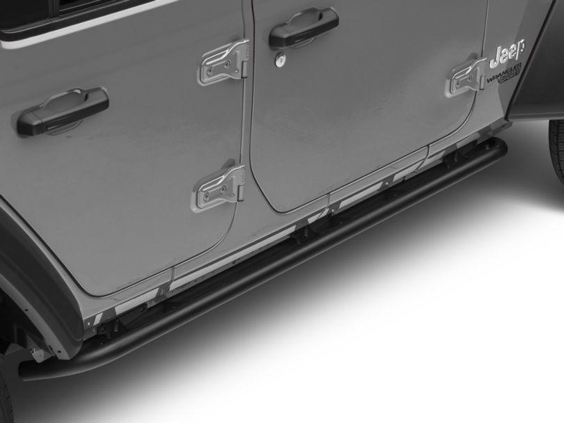 N-Fab Full Length RKR Side Rails - Textured Black (18-20 Jeep Wrangler JL 4 Door)