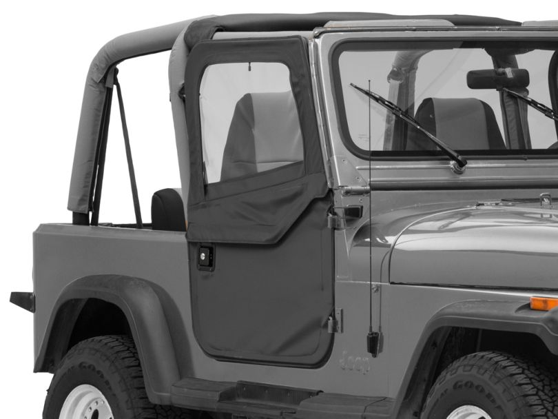 Bestop 2-Piece Full Fabric Doors - Black Denim (87-95 Jeep Wrangler YJ)