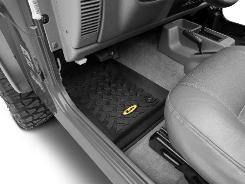 Bestop Front Floor Mats - Black (97-06 Jeep Wrangler TJ)
