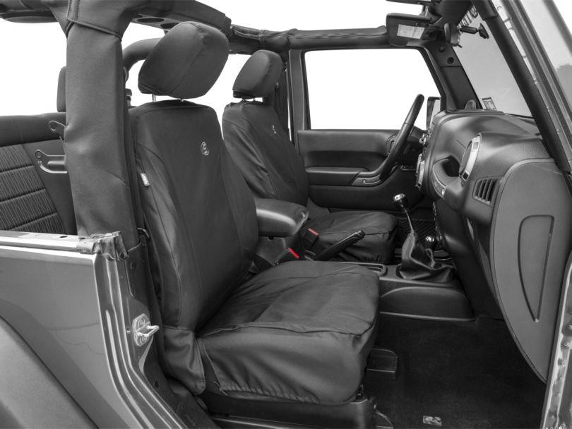 Bestop Front Seat Covers; Black Diamond (07-18 Jeep Wrangler JK)