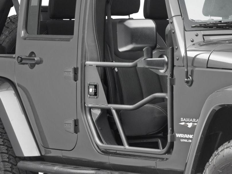 Bestop HighRock 4x4 Element Front Doors - Textured Matte Black (07-18 Jeep Wrangler JK)