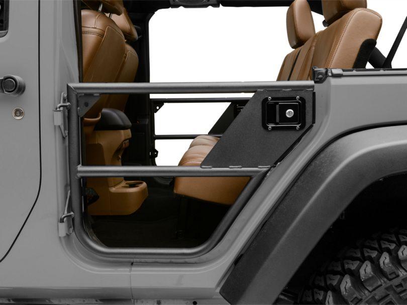 Bestop HighRock 4x4 Element Rear Doors - Textured Matte Black (07-18 Jeep Wrangler JK 4 Door)