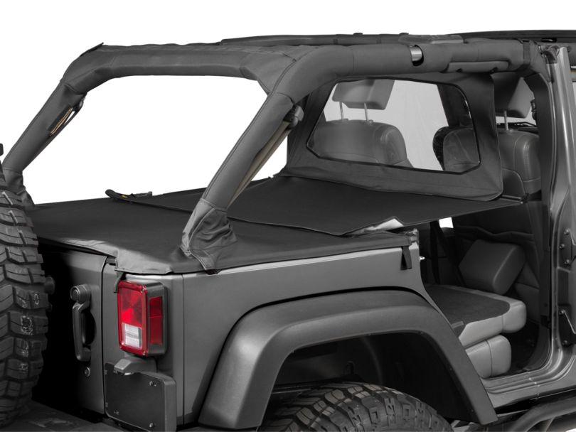 Bestop Duster Deck Cover Extension - Black (07-18 Jeep Wrangler JK 4 Door)