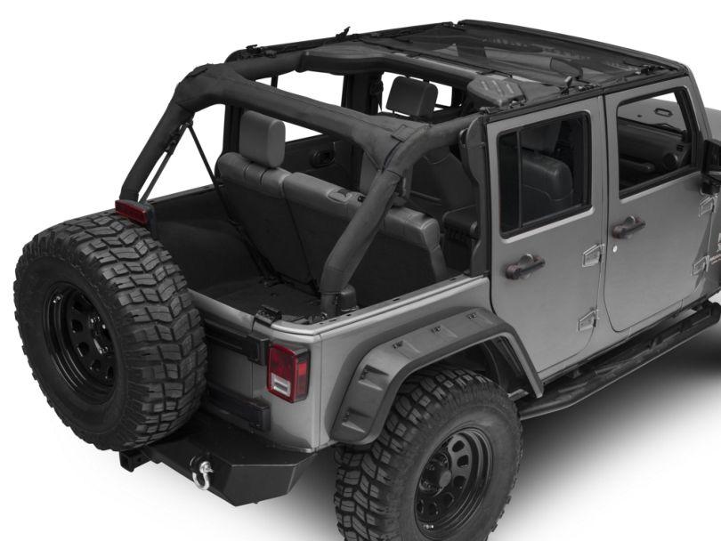 Bestop Targa-Style Bikini Top; Mesh (07-18 Jeep Wrangler JK)