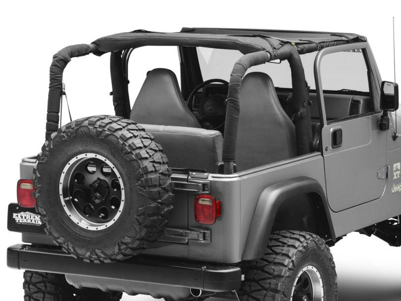 Bestop Targa-Style Sun Bikini Top - Black Diamond (97-06 Jeep Wrangler TJ, Excluding Unlimited)