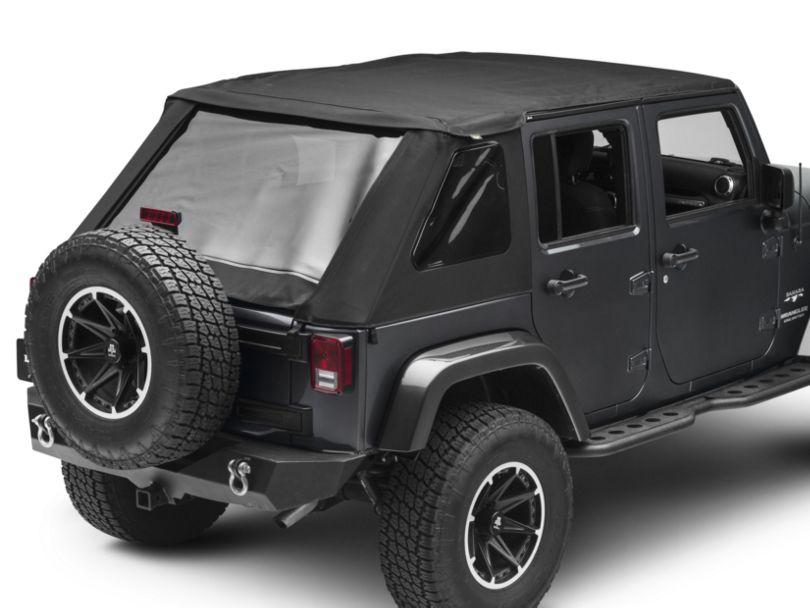 Bestop Trektop NX Soft Top - Black Twill (07-18 Jeep Wrangler JK 4 Door)