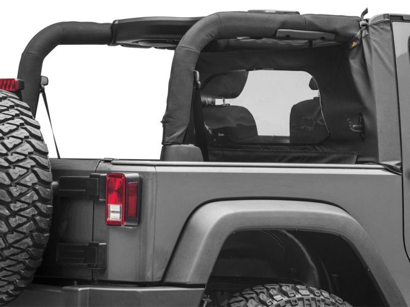 Bestop Wrap-Around Windjammer - Black Diamond (07-18 Jeep Wrangler JK 2 Door)