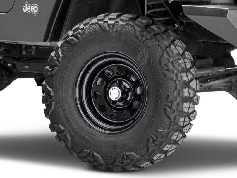 Rugged Ridge D-Window Black Steel Wheel; 15x8 (97-06 Jeep Wrangler TJ)