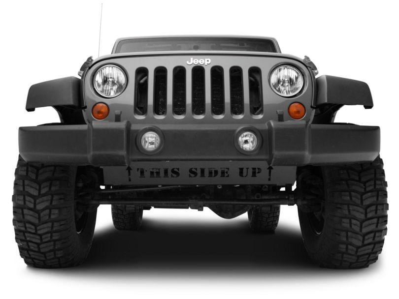 Skid Row Off-Road Front Skid Plate w/ THIS SIDE UP Lettering (07-18 Jeep Wrangler JK)