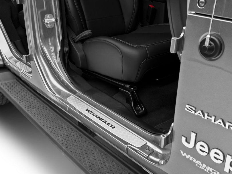 Mopar Door Sill Guards - Stainless Steel (18-20 Jeep Wrangler JL 4 Door)