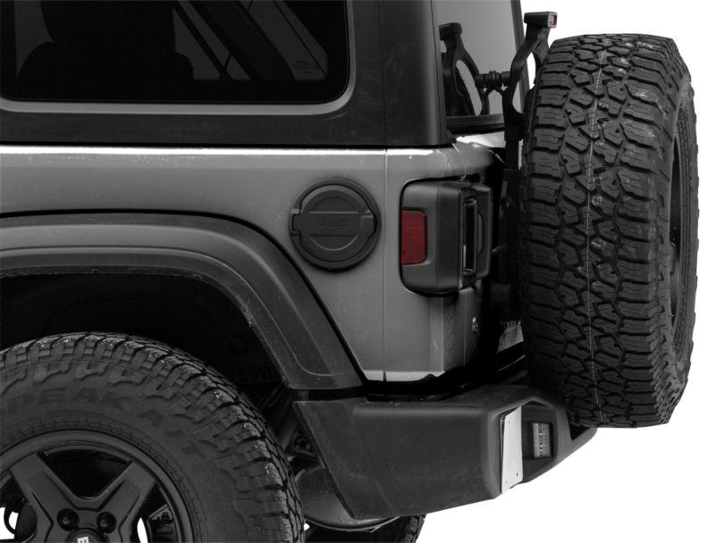 Mopar Black Fuel Door w/ Jeep Logo (18-20 Jeep Wrangler JL)