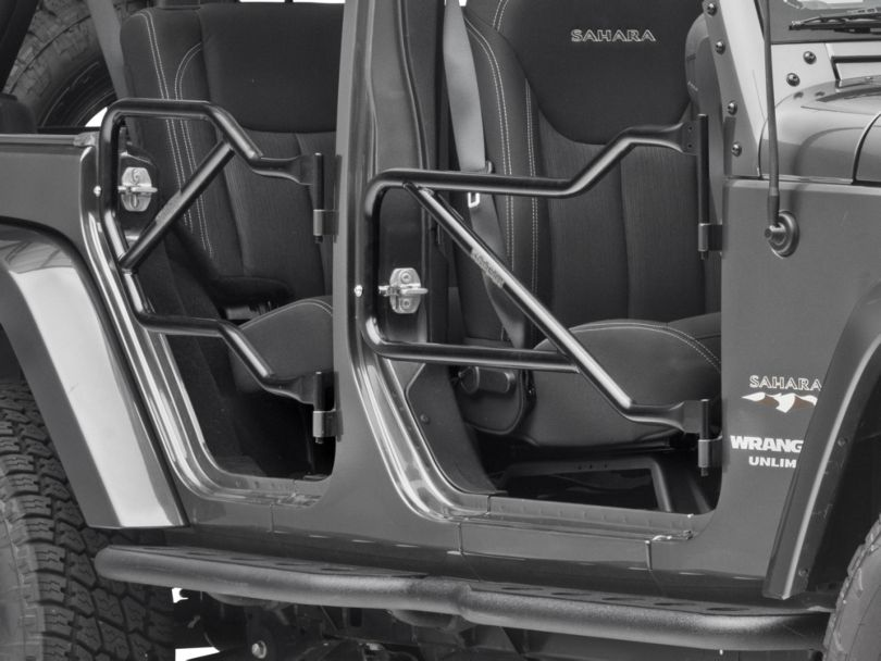 Steinjager Front & Rear Trail Tube Doors - Black (07-18 Jeep Wrangler JK 4 Door)