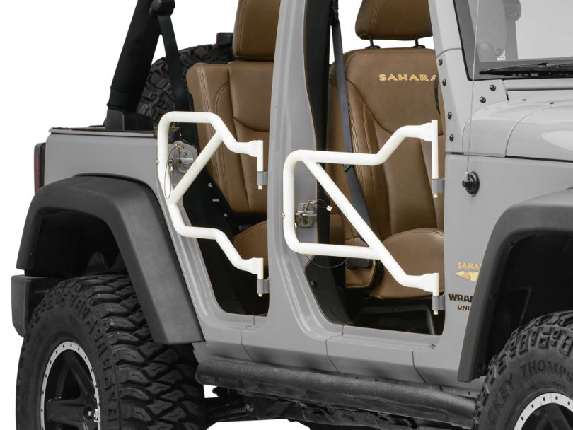 Steinjager Front & Rear Trail Tube Doors - Cloud White (07-18 Jeep Wrangler JK 4 Door)