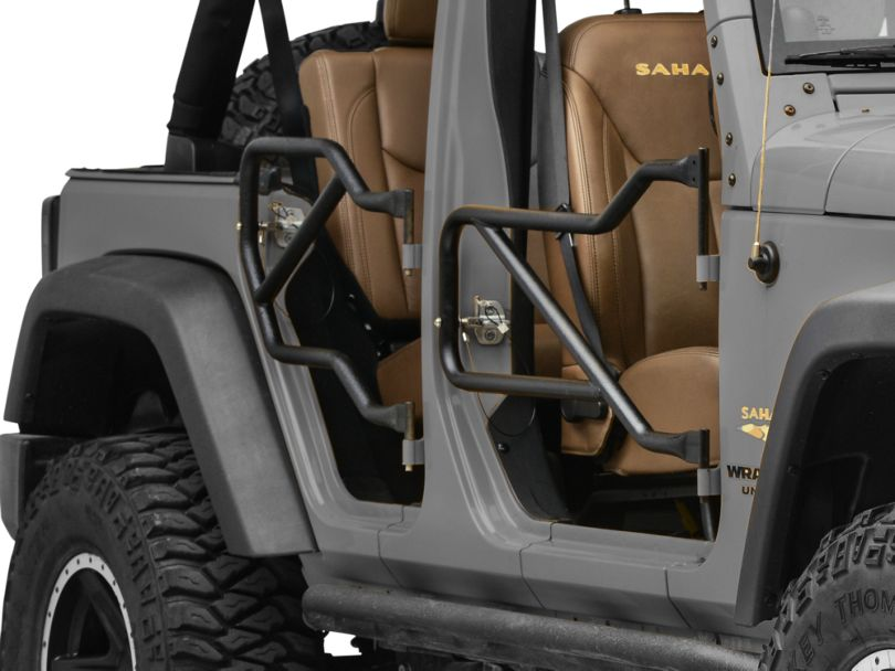 Steinjager Front & Rear Trail Tube Doors - Textured Black (07-18 Jeep Wrangler JK 4 Door)
