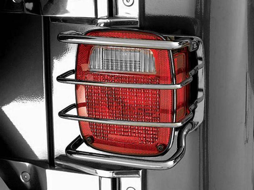 Rugged Ridge 8-Piece Euro Light Guard Kit - Black Chrome (97-06 Jeep Wrangler TJ)
