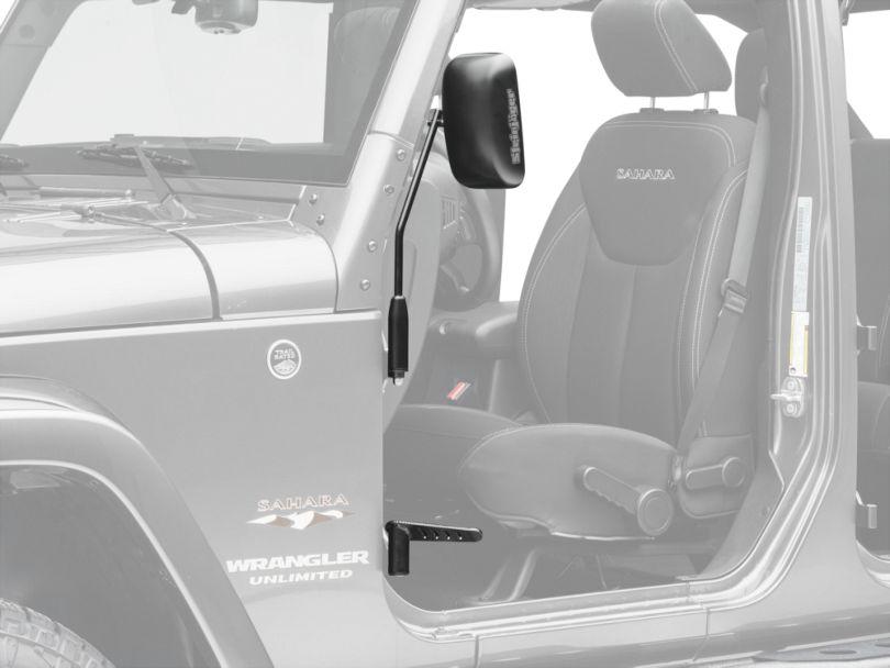 Steinjager Premium Mirror & Foot Peg Kit - Black (07-18 Jeep Wrangler JK)