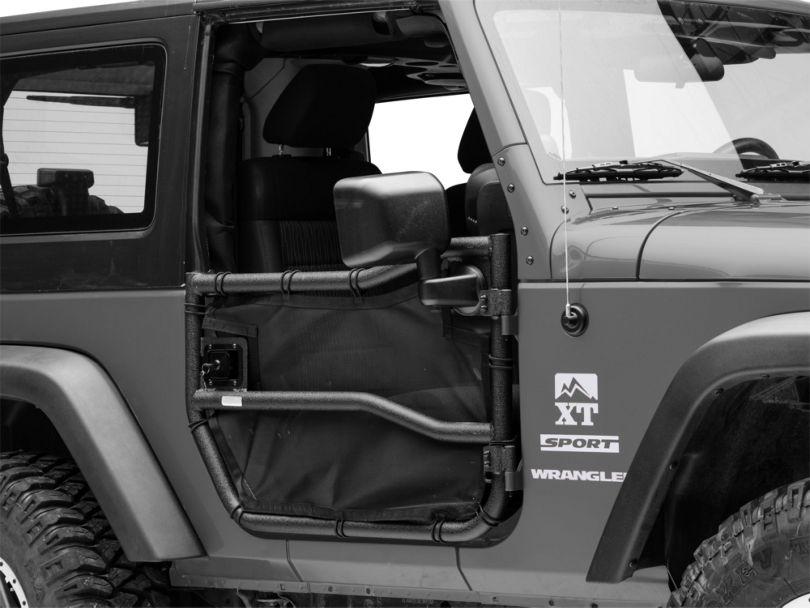 Rugged Ridge Front Tube Doors w/ Eclipse Cover Kit (07-18 Jeep Wrangler JK)