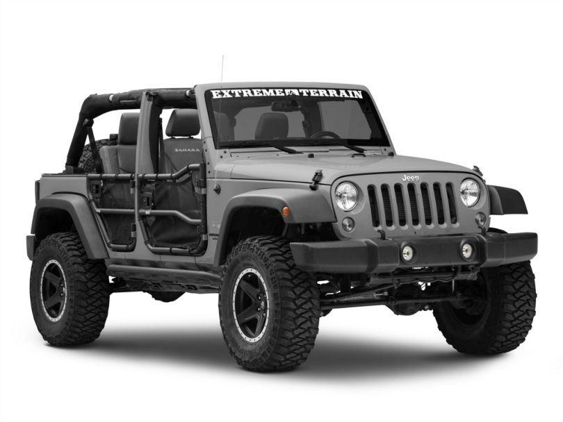 Rugged Ridge Front & Rear Tube Doors w/ Eclipse Cover Kit (07-18 Jeep Wrangler JK 4 Door)