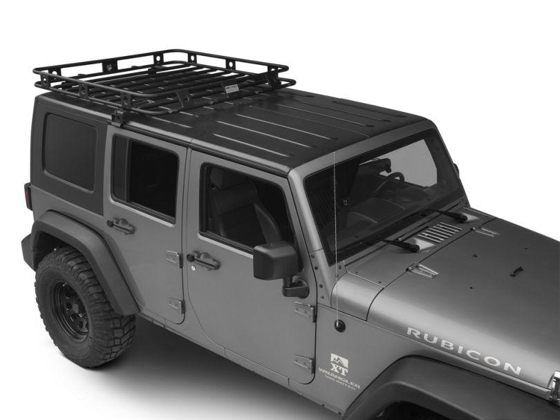 Smittybilt Welded One-Piece Defender Roof Rack; 4.50-Foot x 4.50-Foot (07-18 Jeep Wrangler JK 4 Door)