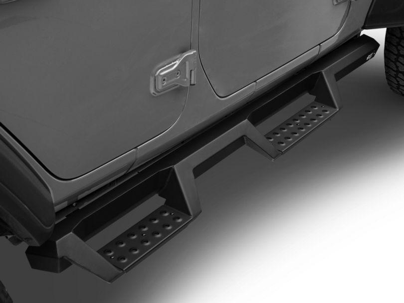 HDX Drop Nerf Side Step Bars; Textured Black (18-20 Jeep Wrangler JL 4 Door)