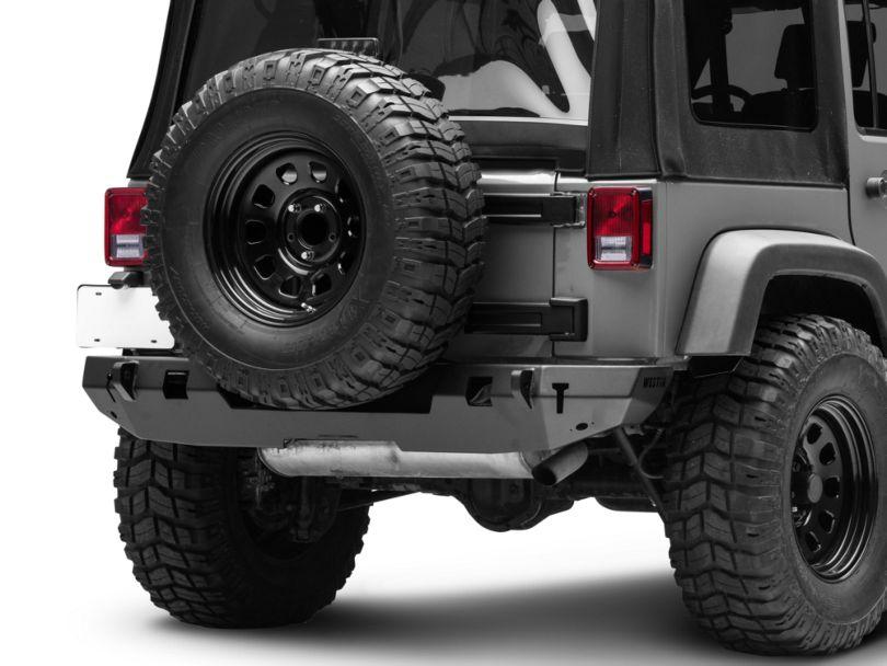 WJ2 Rear Bumper - Textured Black (07-18 Jeep Wrangler JK)