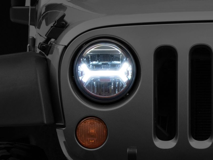 Raxiom LED Headlights w/ Halos (07-18 Jeep Wrangler JK)