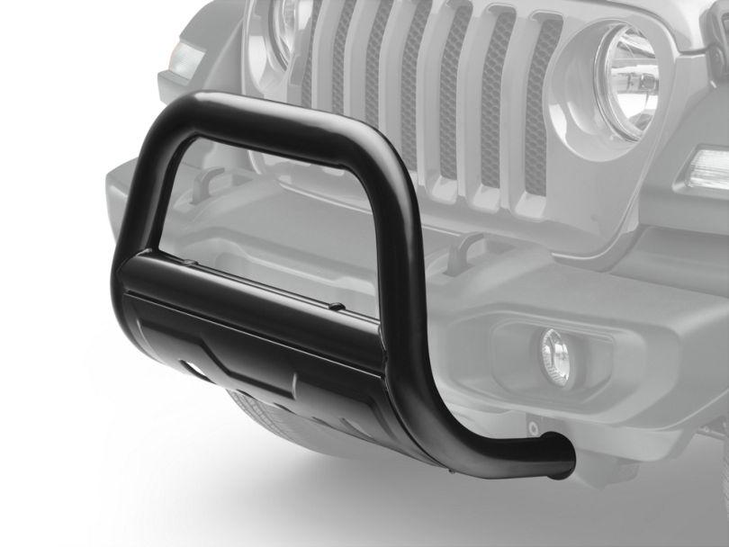 Barricade 3.5 in. Oval Bull Bar w/ Formed Skid Plate - Black (18-19 Jeep Wrangler JL)