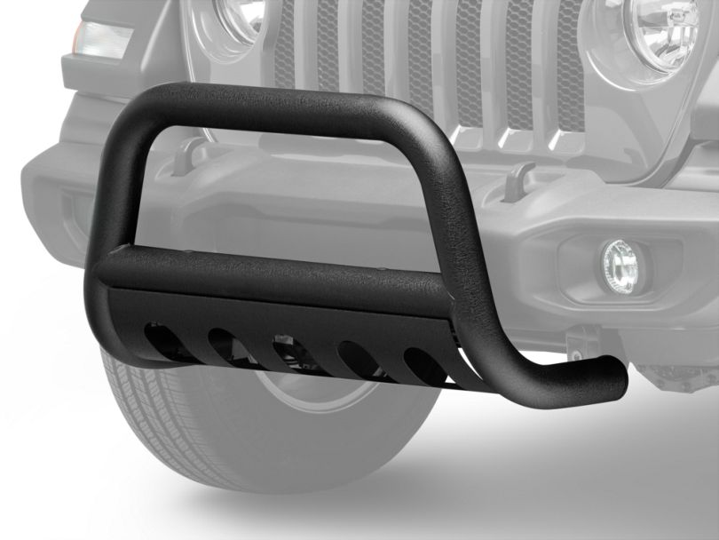 RedRock 4x4 3 in. Bull Bar w/ Skid Plate - Textured Black (18-20 Jeep Wrangler JL)