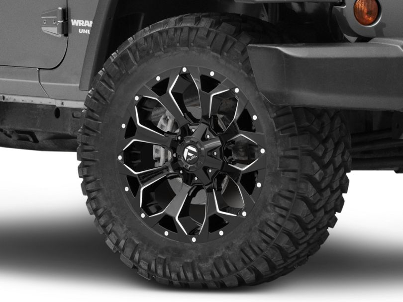 Fuel Wheels Assault Gloss Black Milled Wheel; 20x9 (07-18 Jeep Wrangler JK)