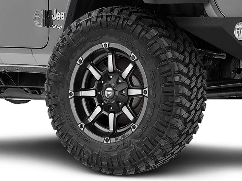 Fuel Wheels Coupler Black Machined Wheel - 20x10 (18-20 Jeep Wrangler JL)