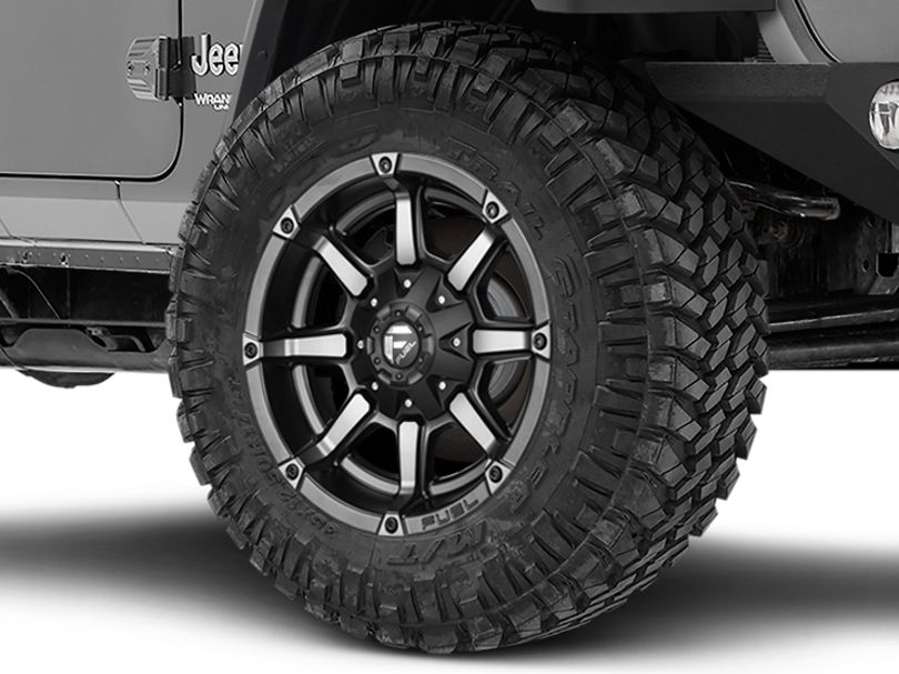 Fuel Wheels Coupler Matte Black Machined Wheel; 20x10 (18-20 Jeep Wrangler JL)