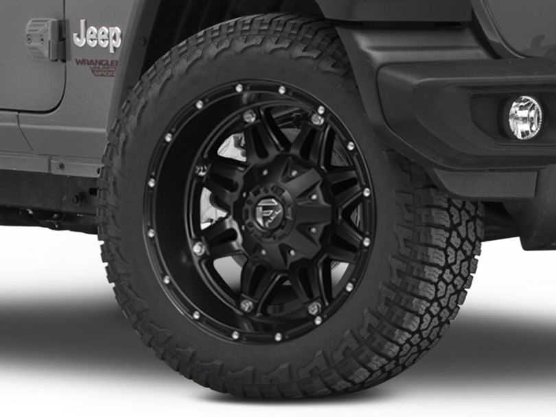 Fuel Wheels Hostage Matte Black Wheel; 20x9 (18-20 Jeep Wrangler JL)